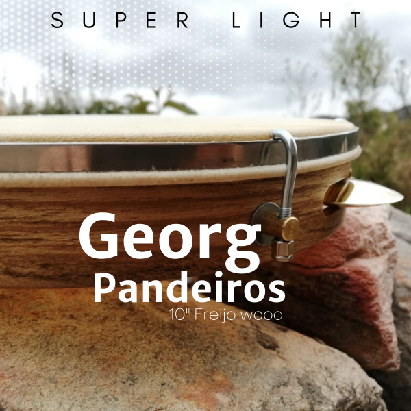 Pandeiro 10'' Freijo wood - hide head Georg Pandeiros A603104