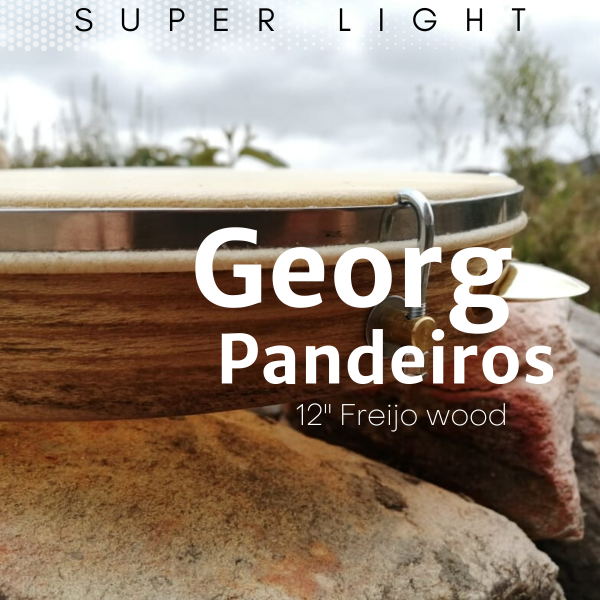 Pandeiro 10'' - Freijo wood, hide head Georg Pandeiros A603104