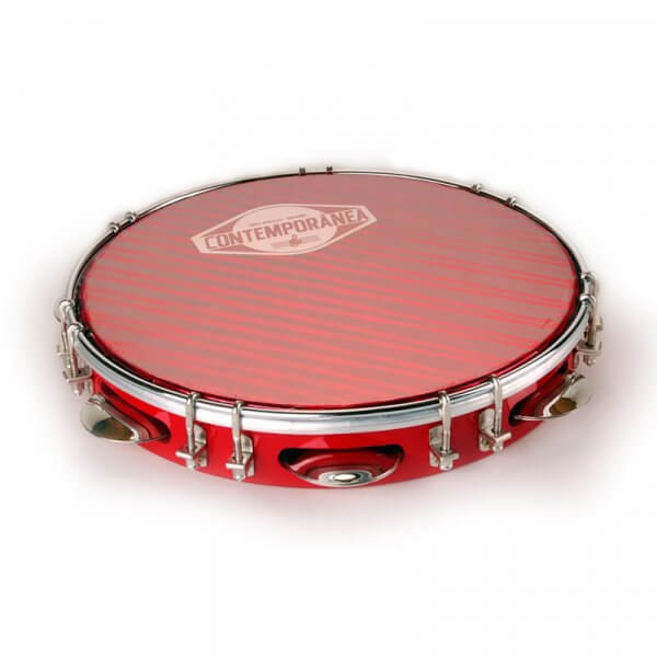 "Pandeiro 10"" Samba - red Contemporânea A341601"