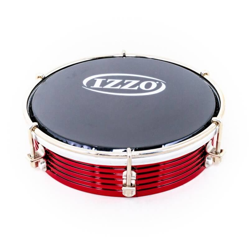 Izzo   Tamborim 6'' - aluminium, red, black head A321813