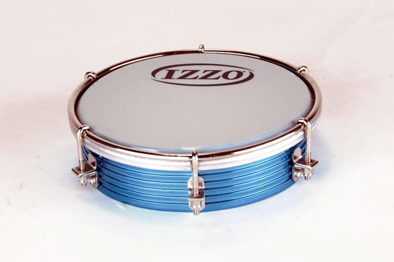 Izzo   Tamborim 6'' x 45 cm - Aluminium, blau A321811
